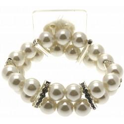 Double Bubble Cream Corsage Bracelet