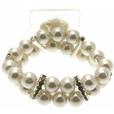 Double Bubble Cream Corsage Bracelet