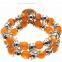 Gum Drop Orange Corsage Bracelet