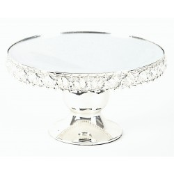 Crystal Cake Stand - Silver (25x25x14cm)
