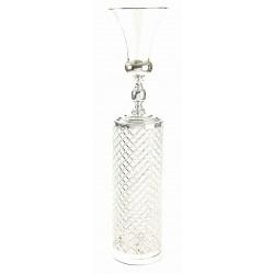 Crystal Column & Urn - Silver (25x25x116cm)