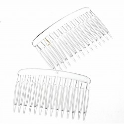 Chelsea Hair Comb - Clear (12 pcs per pk)