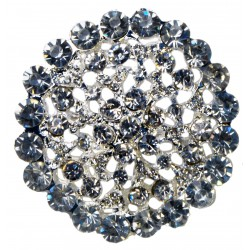 Bon Bon Brooch Pin - Silver (6cm Diameter on 15cm Pin)