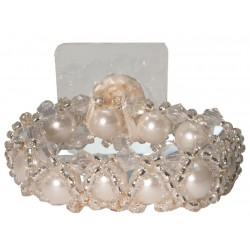Hugs-N-Kisses Corsage Bracelet - Cream