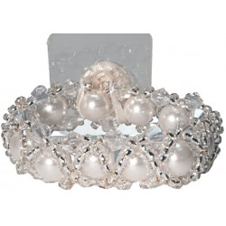 Hugs-N-Kisses  Corsage Bracelet - White