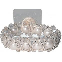 Hugs-N-Kisses  Corsage Bracelet - White