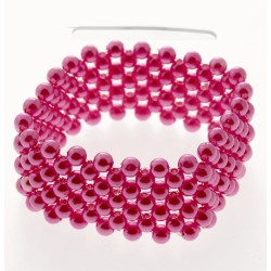 Narrow Classic Corsage Bracelet - Hot Pink