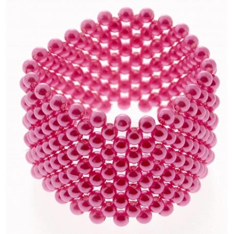 Classic Corsage Bracelet - Hot Pink