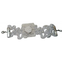 Southern Belle Lace Corsage Bracelet - Cream