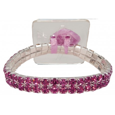 Sophisticated Lady Corsage Bracelet - Purple