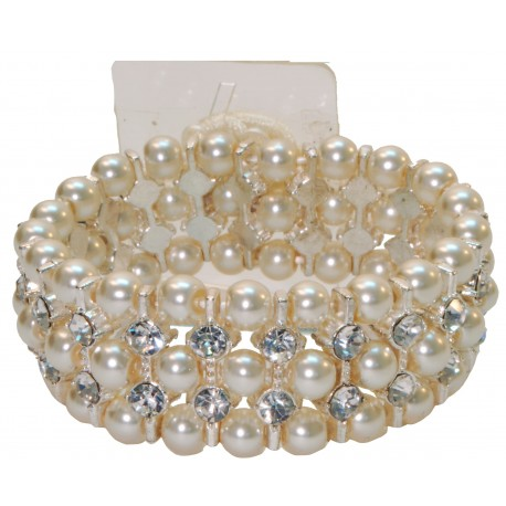 Savannah Corsage Bracelet - Cream