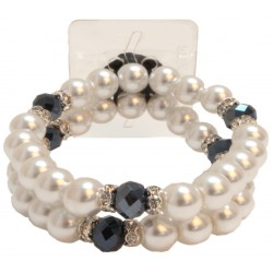 Sweetness Corsage Bracelet- White and Black