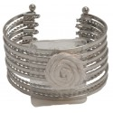 Zoey Corsage Cuff - Silver (4cm Height)