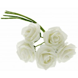 4.5cm Rosebud Bunch - Cream (5pcs per bunch)