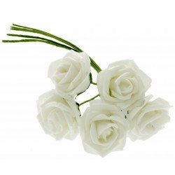 4.5cm Diameter Rosebud Bunch - Cream (5pcs per bunch)