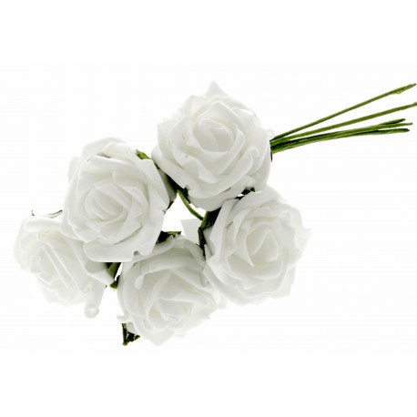 4.5cm Rosebud Bunch - White (5pcs per bunch)