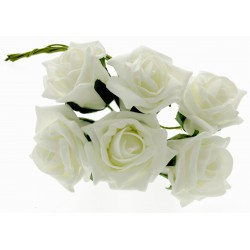 8cm Rose Bunch - Cream (6pcs per bunch)