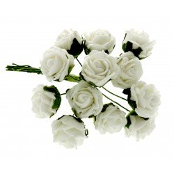 2cm Diameter Rose Bunch - Cream (12pcs per bunch)