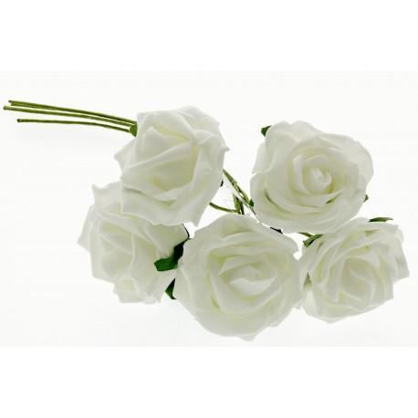 6cm Rose Bunch - Cream (5pcs per bunch)