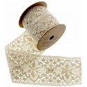 Cotton Lace Ribbon - Cream (70mm x 3m)