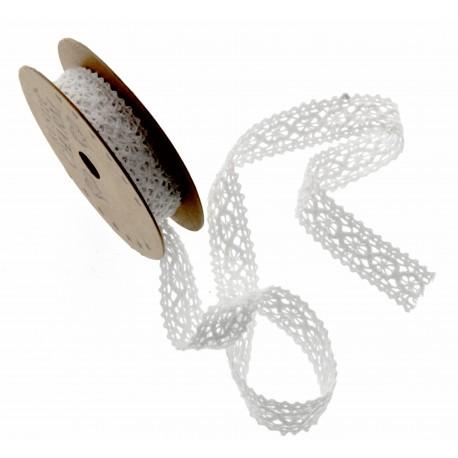 Cotton Lace Ribbon - White (16mm x 3m)