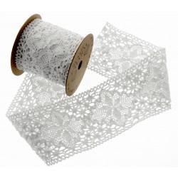 Cotton Lace Ribbon - White (70mm x 3m)