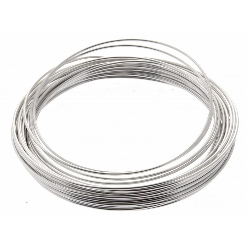 aluminium wire - silver  2mm x 100g