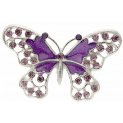 "Butterfly Brooch Pin - Purple (4cm Diameter with ""Spot On"" 15cm Pin)"