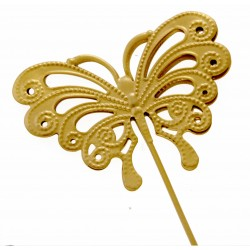 Butterfly Shaped Flowergirl Wedding Day Wand - Gold