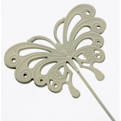 Butterfly Shaped Flowergirl Wedding Day Wand - Cream