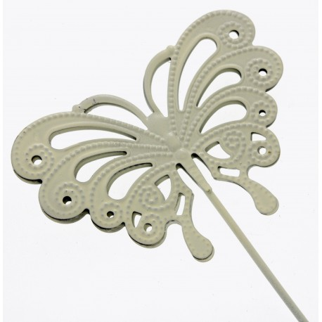 Butterfly Wand - Cream (9cm Diameter on 25cm Handle)