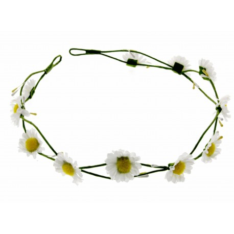 Daisy Headband - White (17cm Diameter, adjustable)