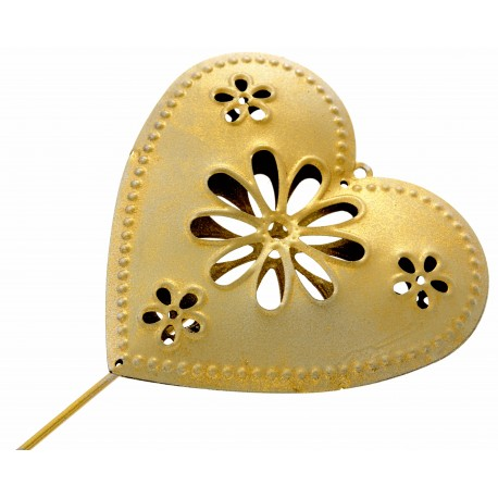 Heart Wand - Gold (9cm Diameter on 25cm Handle)
