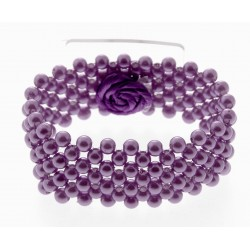 Narrow Classic Corsage Bracelet - Purple
