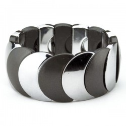 Half Moon Corsage Bracelet - Black