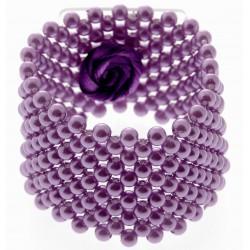 Classic Corsage Bracelet - Purple