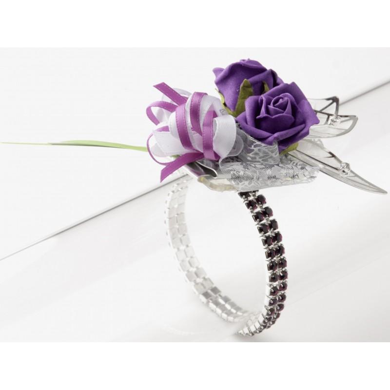 sophisticated corsage bracelet purple corsage