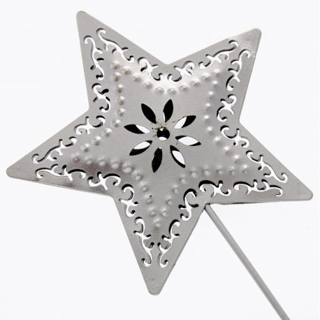 Star Wand - Silver (10cm Diameter on 25cm Handle)