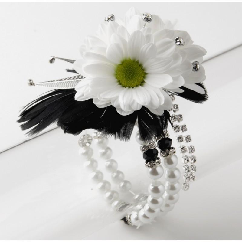 Corsage bracelets whole alert bracelet sweetness corsage bracelet cream and black mightylinksfo