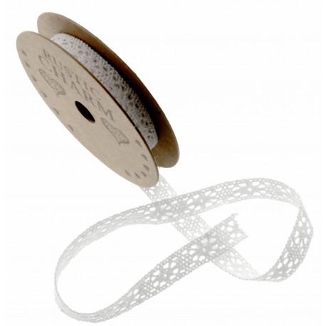Cotton Lace Ribbon - White (11mm x 3m)