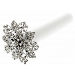 Superior Single Brooch Bouquet - Silver (10cm Diameter, 22cm Handle)