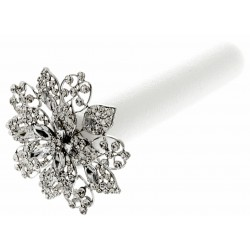 Superior Single Diamante Wedding Day Brooch Bouquet - Silver