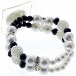 Ansley Claire Corsage Bracelet - White & Black