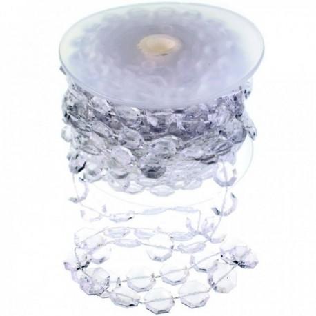 12mm Acrylic Stone Garland - Clear (12mm x 10m)