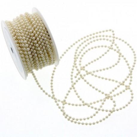 4mm Round Bead Trim - Cream (25m)