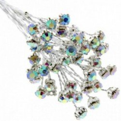 5mm Diamante Branch - Iridescent (3bunches x 6 stems per bag)