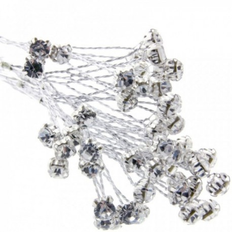 5mm Diamante Branch - Silver  (3bunches x 6 stems per bag)