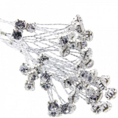 5mm Diamante Branch - Silver  (3bunches x 6 stems per bag)