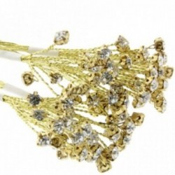 5mm Diamante Branch - Gold (3bunches x 6 stems per bag)