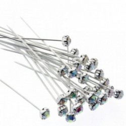 5mm Diamante Corsage Pins - Iridescent (4cm pin, 36 pcs per pk)